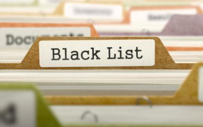 Services bancaires : liste noire des sites ou entités douteux